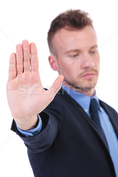 business man shows you his palm Stock photo © feedough