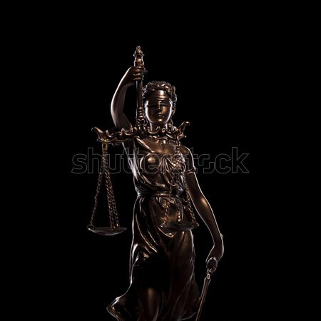 Justice aveugle faible statue déesse noir Photo stock © feedough