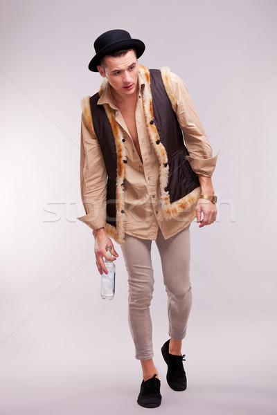 enebriated man walking  Stock photo © feedough
