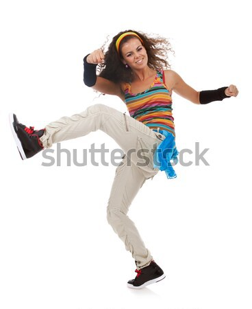 modern slim hip-hop style woman dancer Stock photo © feedough