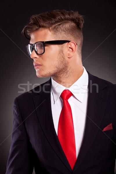 business man looking sideways Stock photo © feedough
