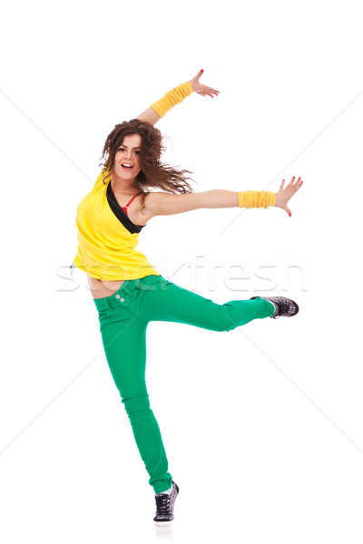 dancer with leg and arms extended Stock photo © feedough
