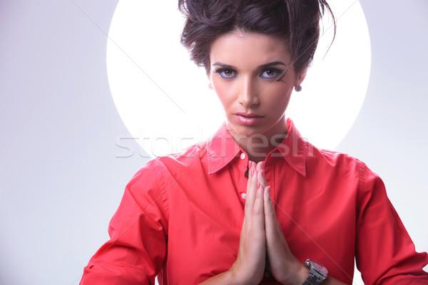 молиться молодые случайный женщину Сток-фото © feedough