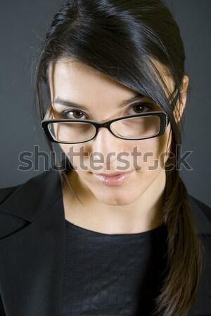 Indossare occhiali denim shirt buio Foto d'archivio © feedough