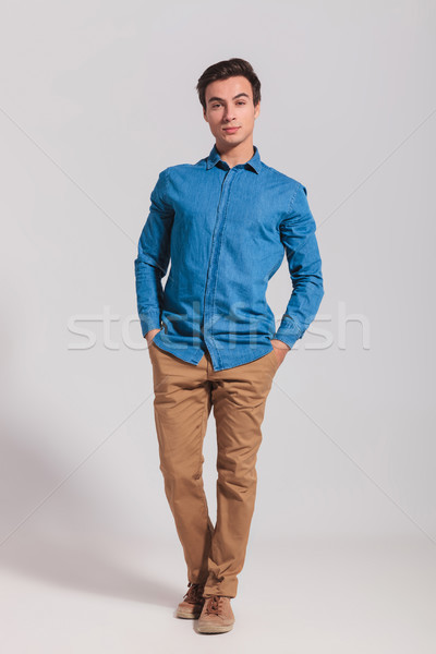 full body picture of a casual man standing  Stock photo © feedough
