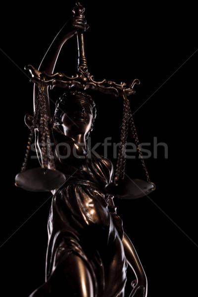 Ciego diosa justicia negro estudio fondo Foto stock © feedough