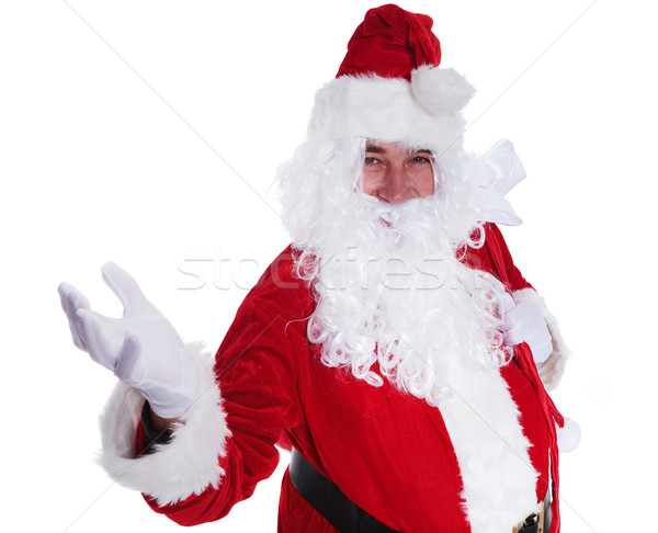 santa claus is welcoming you Stock photo © feedough