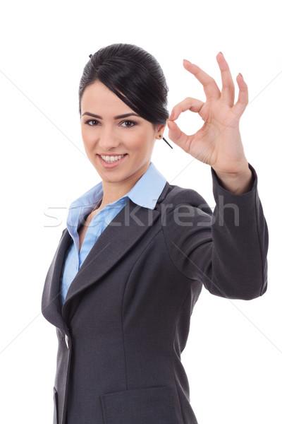 business woman indicating ok sign Stock photo © feedough