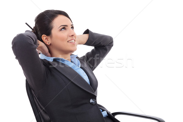business woman dreaming Stock photo © feedough