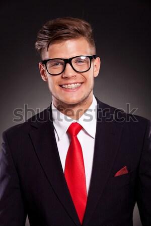 crazy business man shows teeth Stock photo © feedough