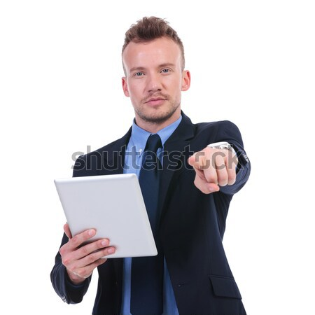 business man pensive with tablet Stock photo © feedough