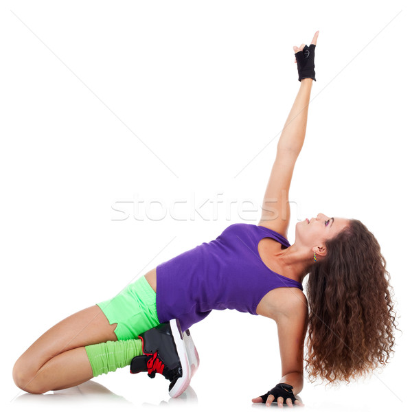 woman dancing hip-hop and pointing Stock photo © feedough