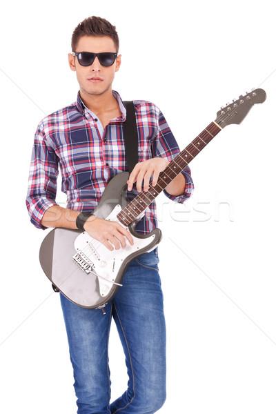 Rock star gitara elektryczna odizolowany biały rock toczyć Zdjęcia stock © feedough