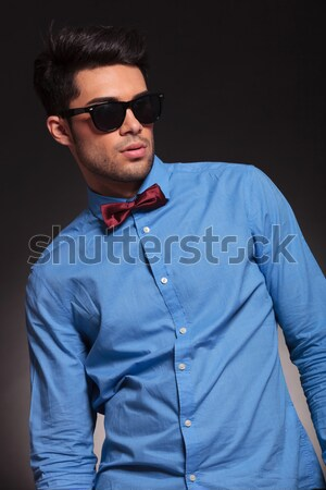 young casual man with shades, looking at the camera Stock photo © feedough