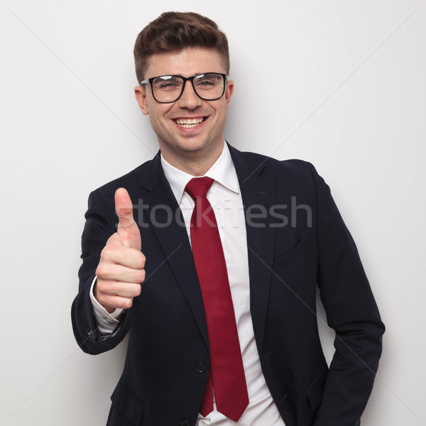 Portret radosny młodych biznesmen Zdjęcia stock © feedough