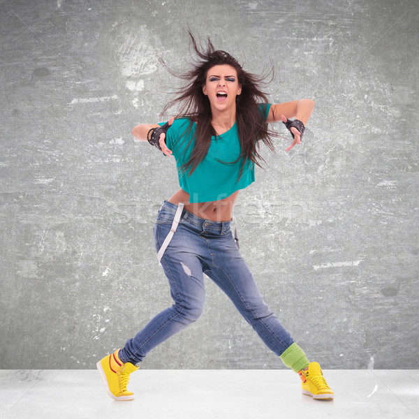 dancer posing and screaming Stock photo © feedough