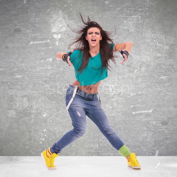 танцовщицы позируют кричали современный стиль студию Dance Сток-фото © feedough