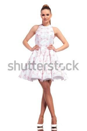 Egészalakos kép fiatal szexi női modell Stock fotó © feedough