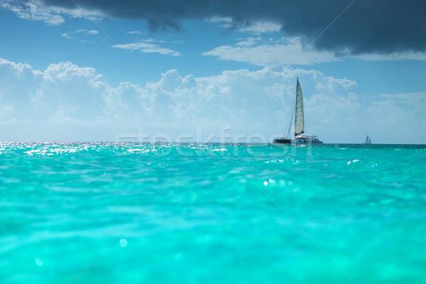 catamaran boat in the  caribbean sea Stock photo © feedough