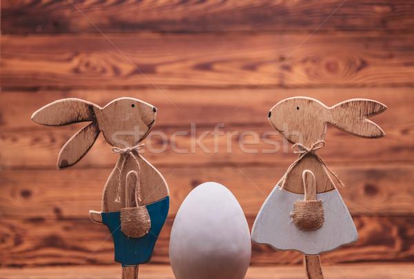 木製 イースター 向い その他 ビッグ 卵 ストックフォト © feedough