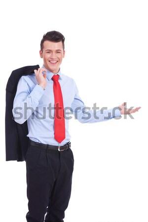 welcoming young business man Stock photo © feedough