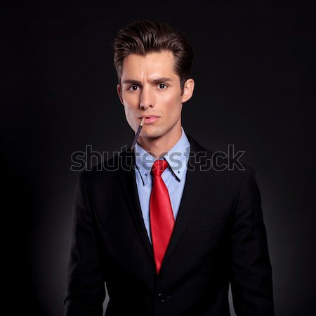 business man with cigarette Stock photo © feedough