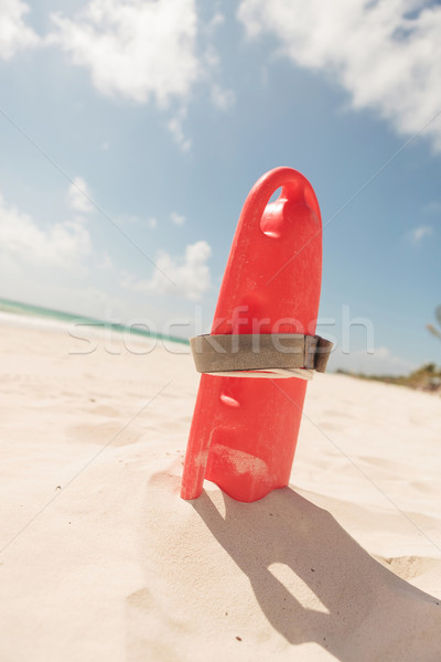 red plastic life guard tube, on the beach. Stock photo © feedough