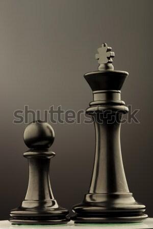 Rey del ajedrez pieza gris estudio ajedrez pie Foto stock © feedough