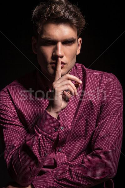 случайный человека молчание жест привлекательный Сток-фото © feedough