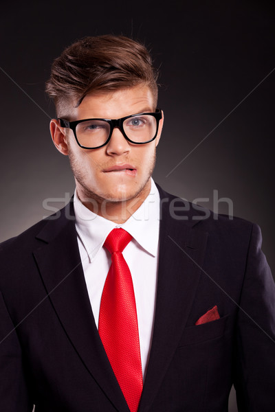 troubled young business man Stock photo © feedough