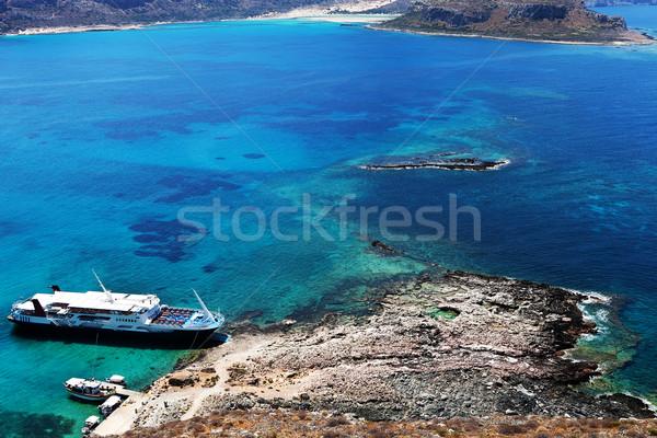 ship on the shore of an island in Greece Stock photo © feedough