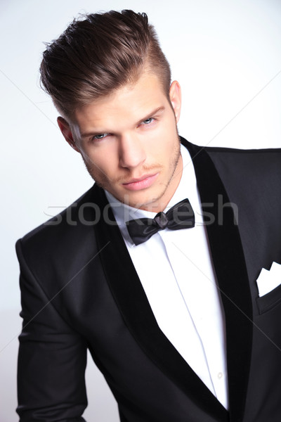 fierce fashion business man looking at you Stock photo © feedough