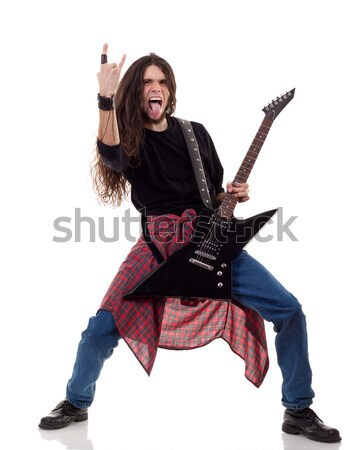 Rock rollen babe zonnebril Stockfoto © feedough
