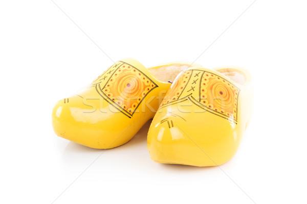 традиционный голландский обувь изолированный белый Сток-фото © feedough