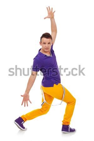 若い男 ダンス ポーズ 男 ダンサー ダンス ストックフォト © feedough