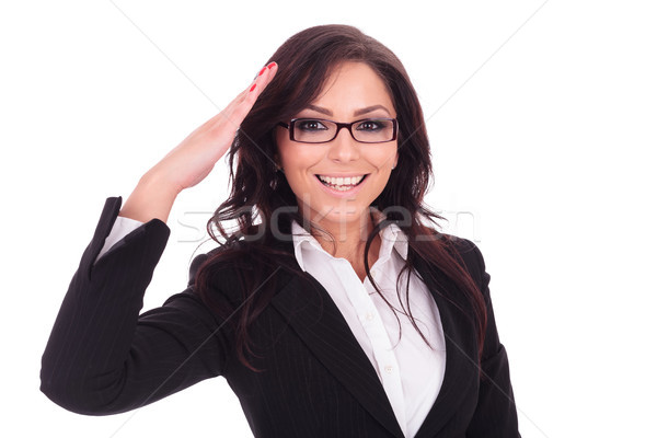 business woman saluting Stock photo © feedough
