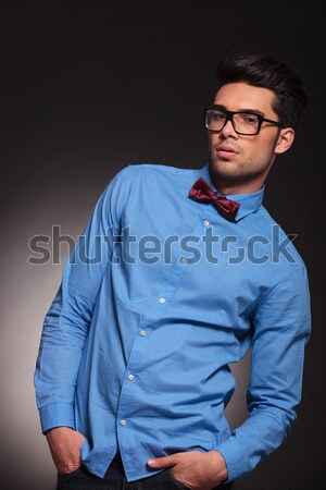 business man holding his arms crossed Stock photo © feedough