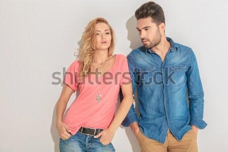 Hombre cerca amor casual Foto stock © feedough