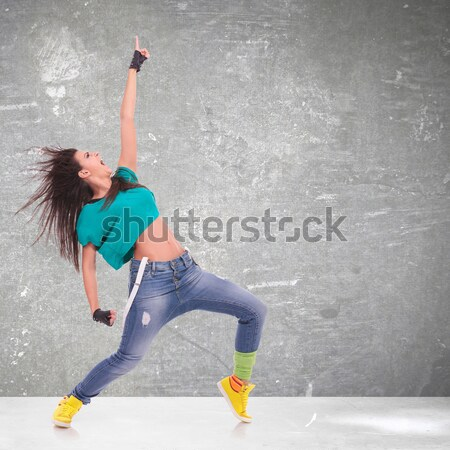 woman dancer in a sensual pose Stock photo © feedough