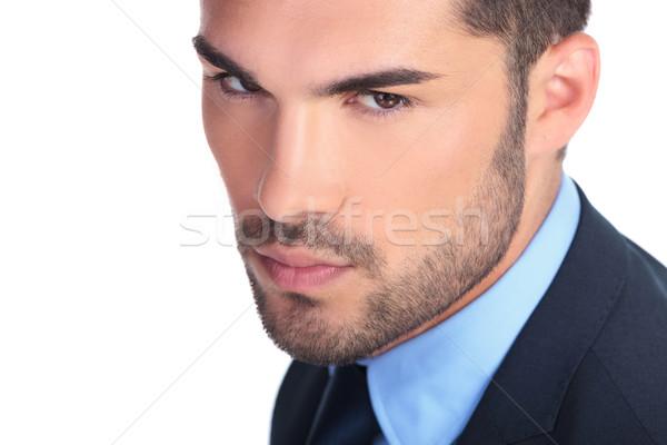 Primo piano foto grave giovani uomo d'affari business Foto d'archivio © feedough