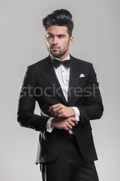 Jeune homme caméra portrait Photo stock © feedough