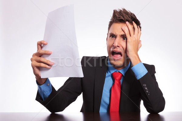 man stunned by bad news Stock photo © feedough