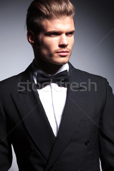 face of a handsome caucasian man in tuxedo Stock photo © feedough