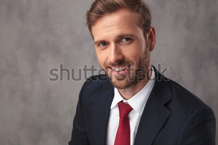 young business man laughs at you Stock photo © feedough