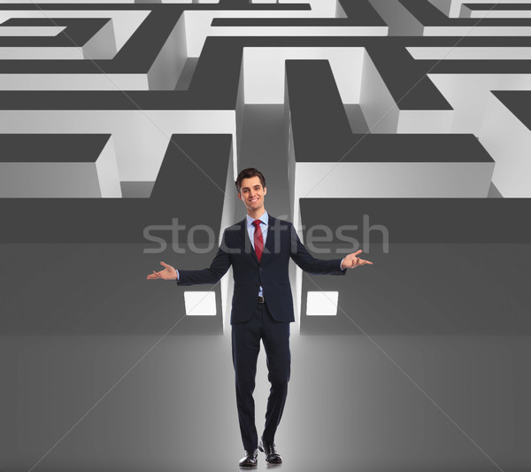 businessman welcoming you to the business maze Stock photo © feedough