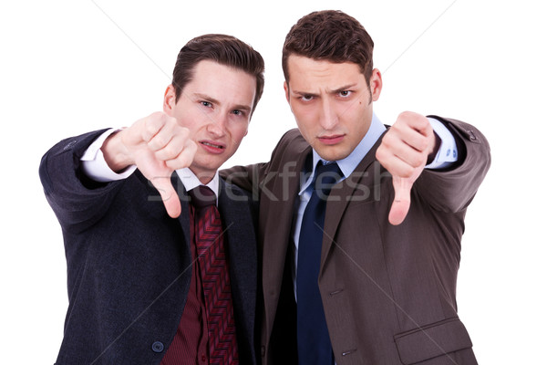 business men with thumb down gesture  Stock photo © feedough