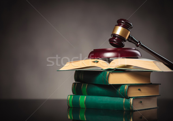 judge's gavel on a pile of books Stock photo © feedough