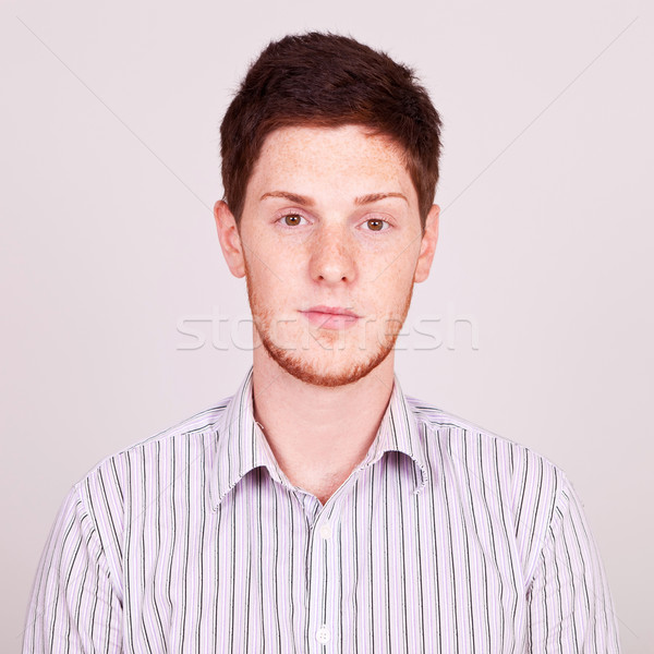 portrait of a red-haired man Stock photo © feedough