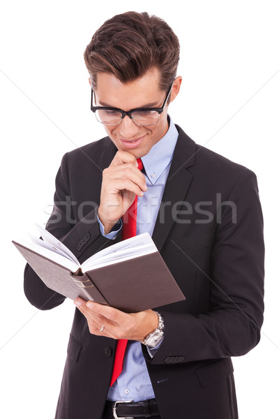 Stock photo: Business man Reading Book