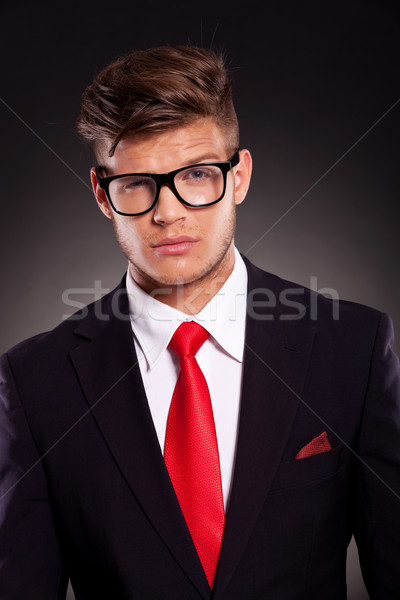 business man with raised eyebrow Stock photo © feedough